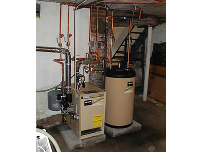 Boiler with indirect water heater